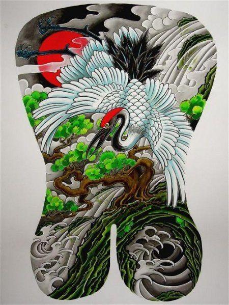 Эскизы японских татуировок