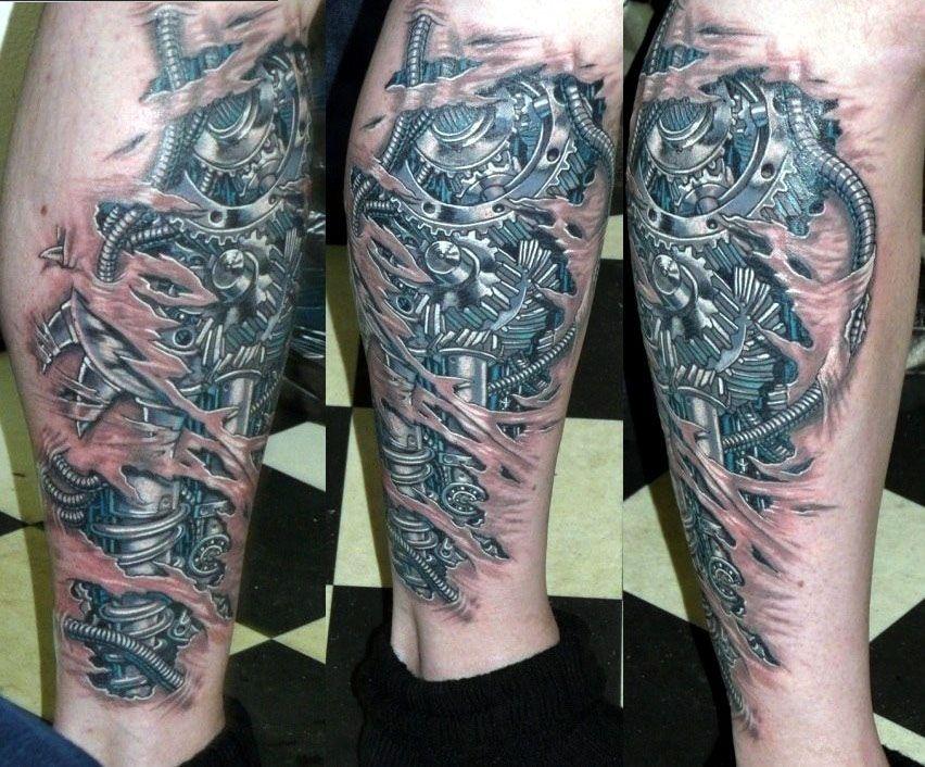 татуировки на икре мужские