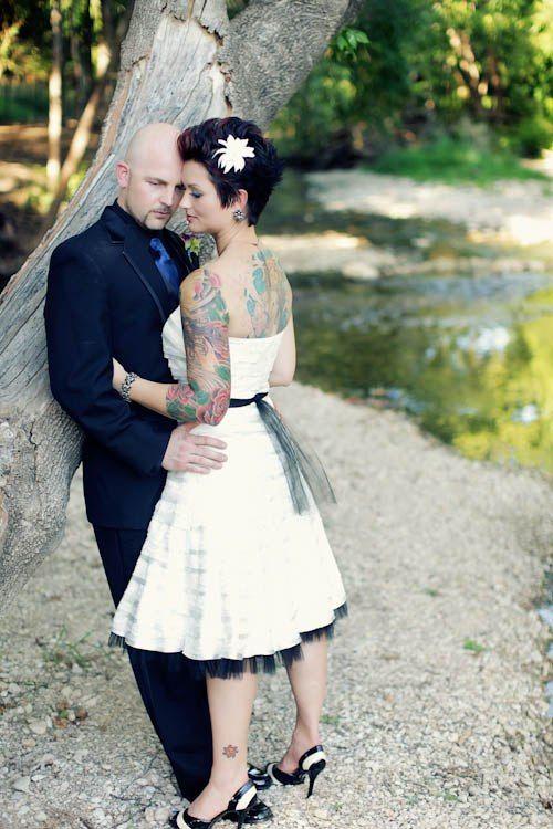 Vintage tattoo wedding