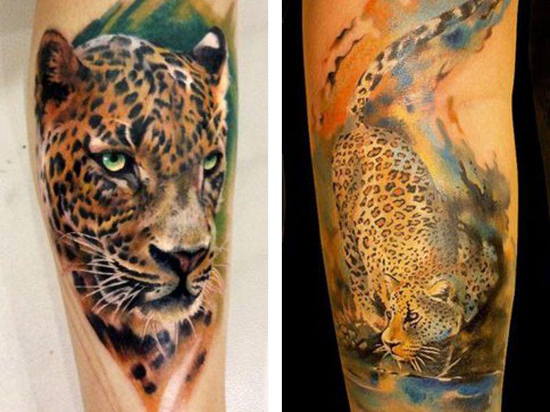 Тату леопард все