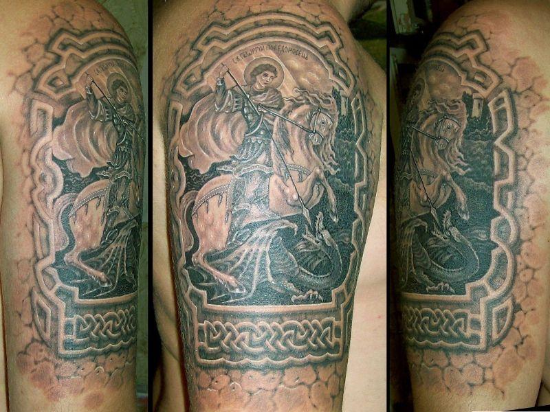 Что означает татуировка с изображением георгия победоносца
