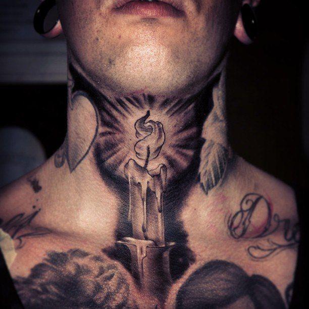 Фото мужской тату на шее