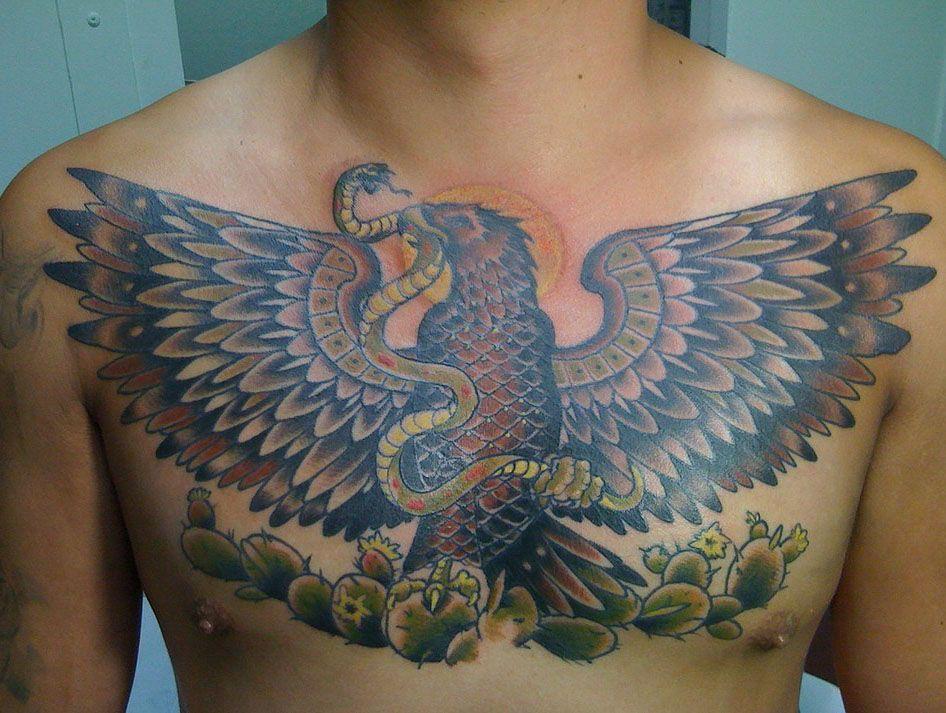 татуировка на грудине мужские тигр