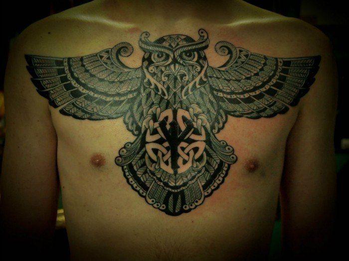 татуировки на грудине для девушек