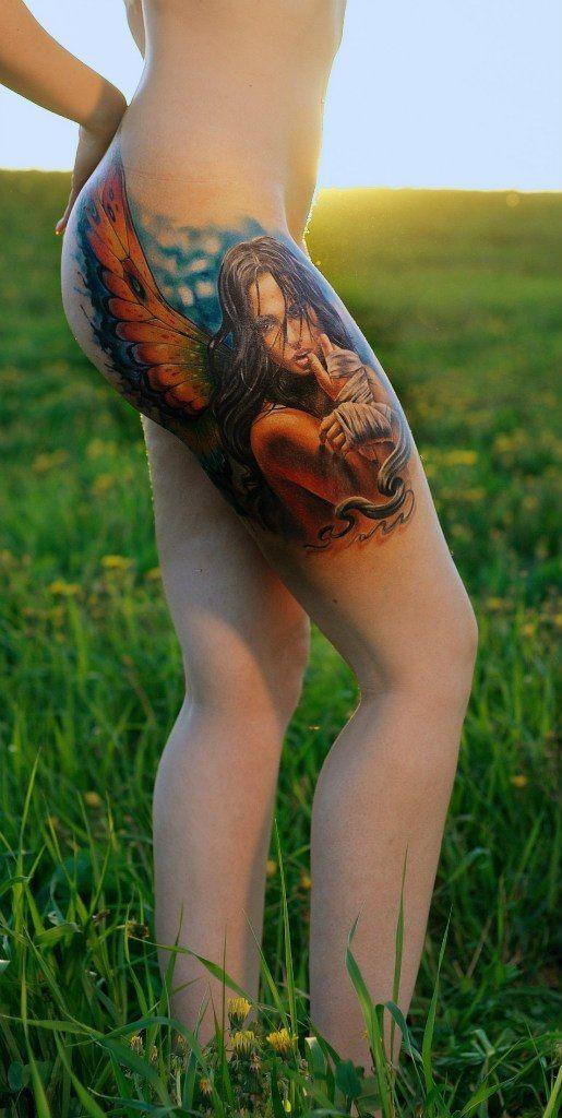 Тату на ягодицах - tattoosalonmoscow