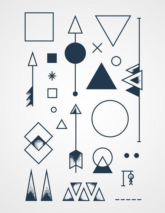 Геометрический рисунок эскиз тату 90