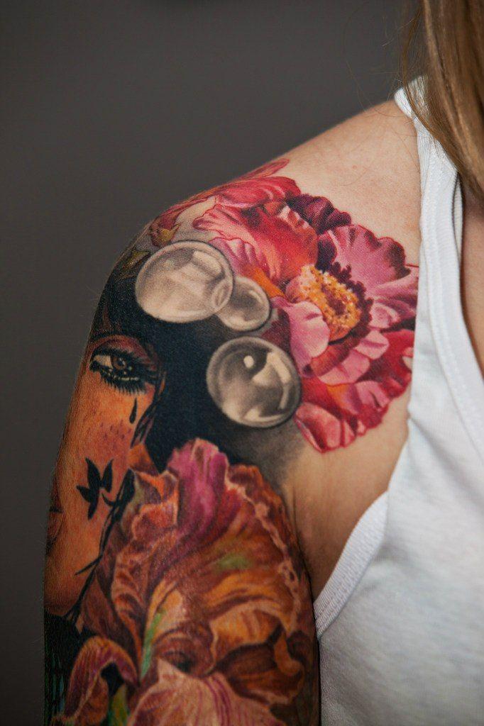 Татуировки на плече для девушек фото