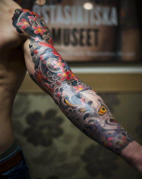 Татуировки японии на руке фото