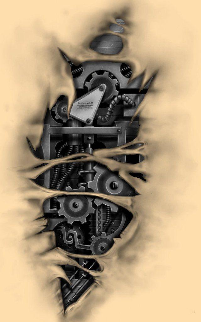 биомеханика тату картинки