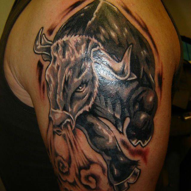 картинки тату быка