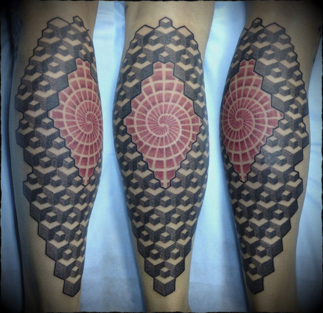 Татуировки на икру ноги фото