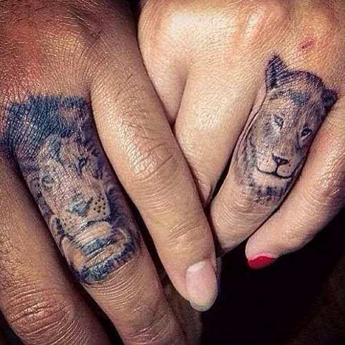 тату лев и львица