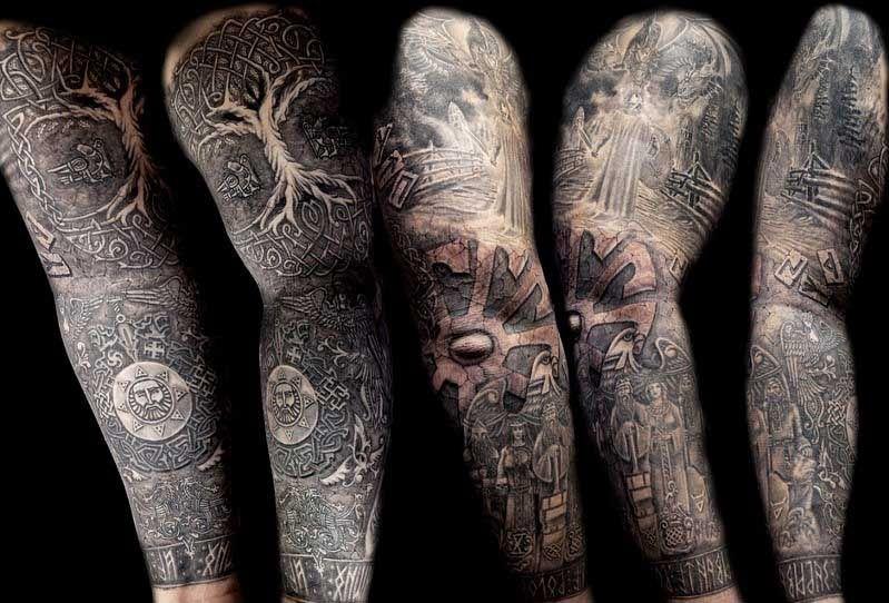 рукав славянская тату