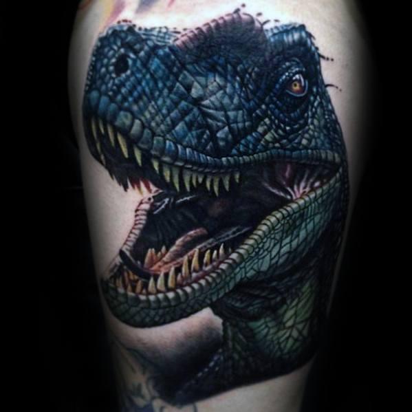 Тату динозавр