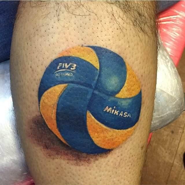 тату волейбольный мяч