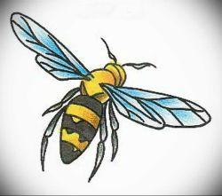 эскиз тату пчела