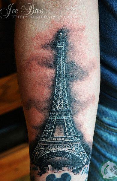 Тату эйфелева башня