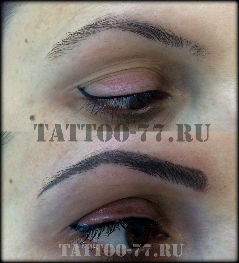 Перманентного макияжа бровей последствия 42