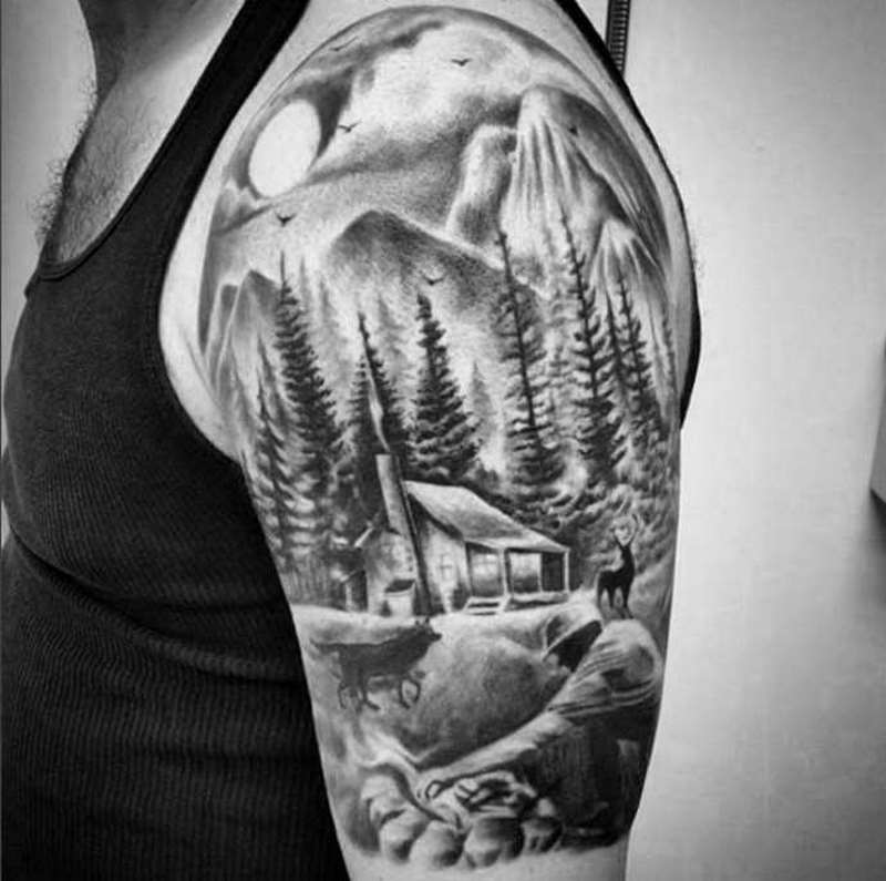 Image result for half sleeve outdoor tattoos