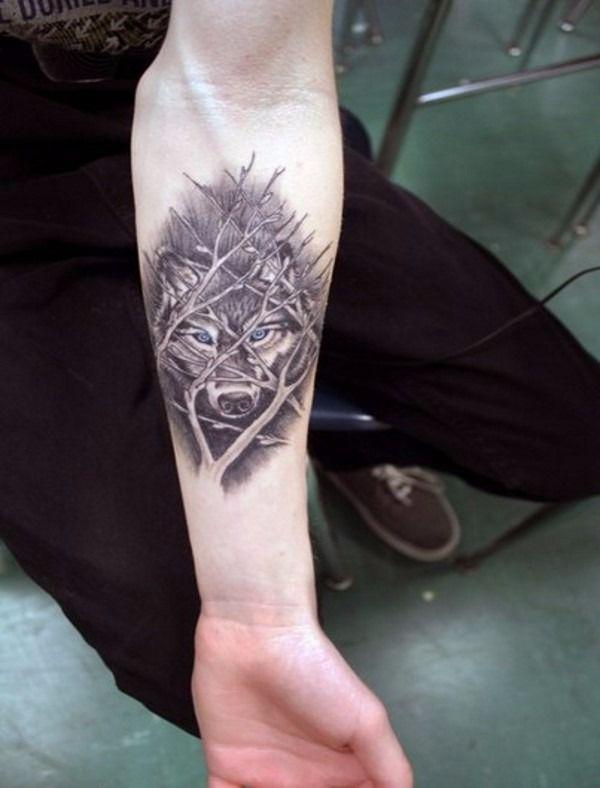 Фото и эскизы тату волк, значение татуировки в салоне Тату-77